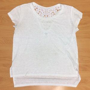 white lace t-shirt (size 8)